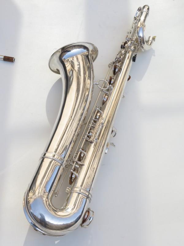 Saxophone baryton Selmer Mark 6 argenté (10)