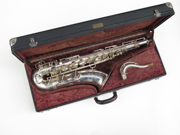 Saxophone tenor Selmer super balanced action argenté (1)