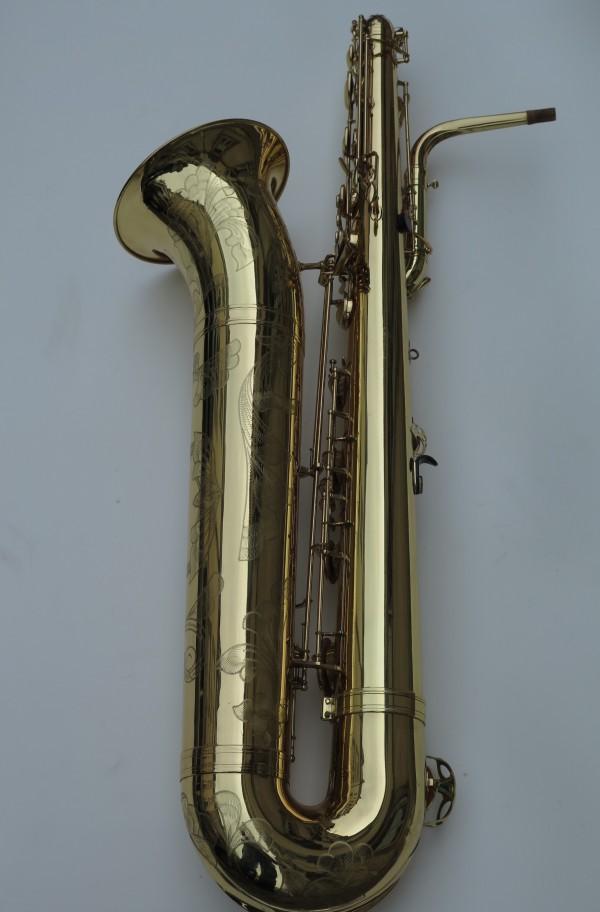 Saxophone basse Selmer mark 6 verni gravé (12)