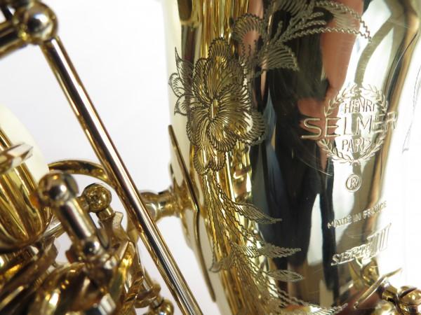 Saxophone alto Selmer Série 3 verni gravé (10)