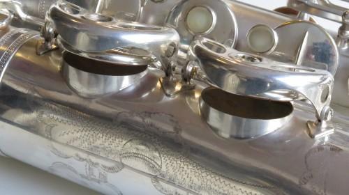Saxophone ténor Selmer super balanced action argenté sablé (1)