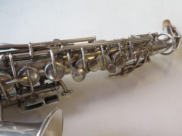 Saxophone soprano courbe selmer stencil Buescher argenté sablé (6)