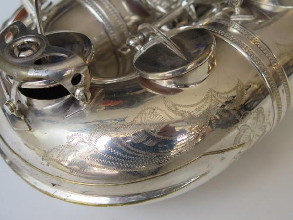 Saxophone ténor Selmer Mark VI argenté gravé (1)