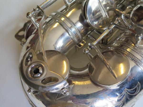 Saxophone ténor Selmer Mark VI argenté gravé (10)