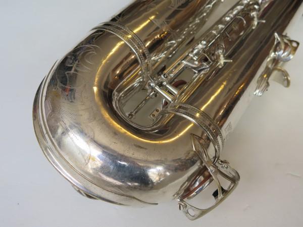 Saxophone ténor Selmer Mark VI argenté gravé (14)