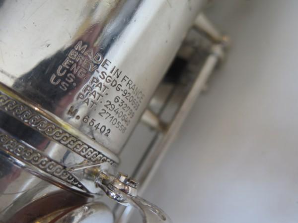 Saxophone ténor Selmer Mark VI argenté gravé (15)