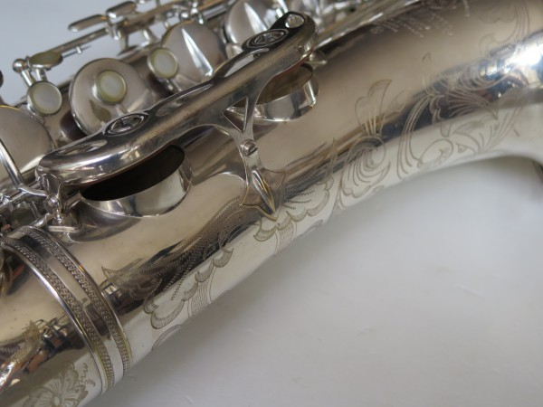 Saxophone ténor Selmer Mark VI argenté gravé (2)