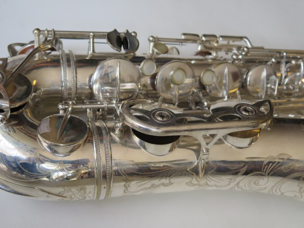Saxophone ténor Selmer Mark VI argenté gravé (3)
