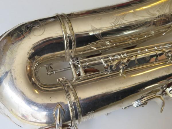 Saxophone ténor Selmer Mark VI argenté gravé (7)