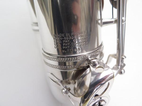 Saxophone ténor Selmer Mark 6 argenté gravé plaqué or (11)
