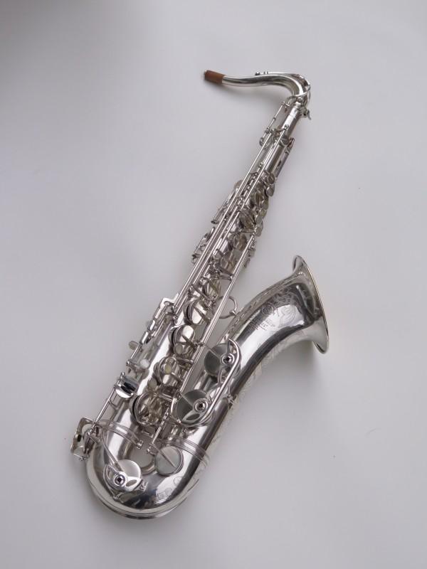 Saxophone ténor Selmer Mark 6 argenté gravé plaqué or (12)
