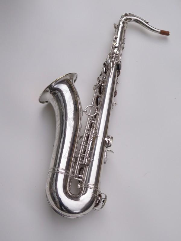 Saxophone ténor Selmer Mark 6 argenté gravé plaqué or (13)