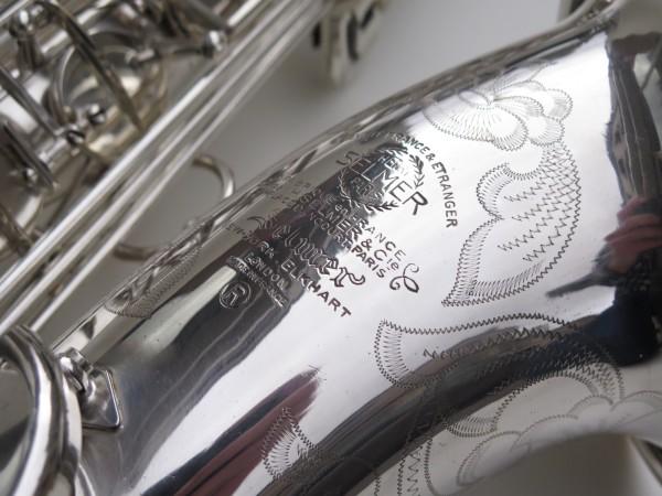 Saxophone ténor Selmer Mark 6 argenté gravé plaqué or (15)