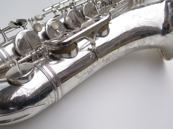 Saxophone ténor Selmer Mark 6 argenté gravé plaqué or (16)