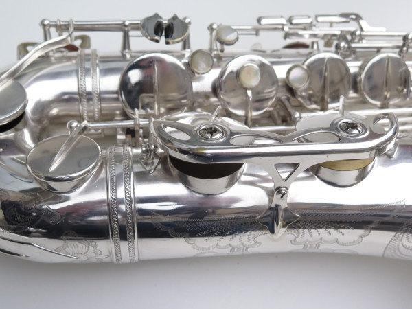 Saxophone ténor Selmer Mark 6 argenté gravé plaqué or (2)
