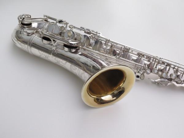 Saxophone ténor Selmer Mark 6 argenté gravé plaqué or (8)