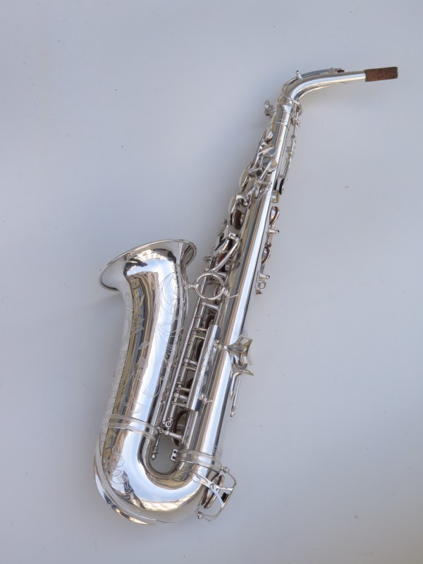 Saxophone alto Selmer Super Balanced Action argenté gravé (17)