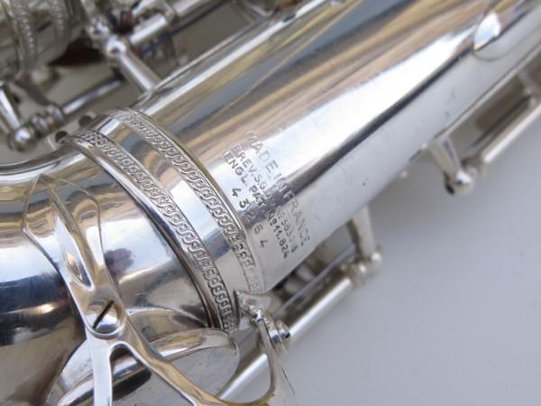 Saxophone alto Selmer Super Balanced Action argenté gravé (18)