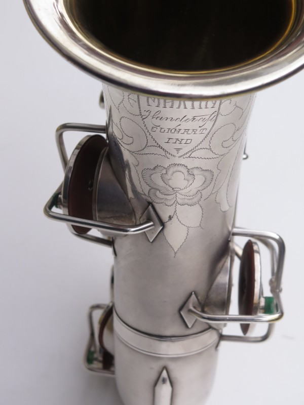 Saxophone alto Martin Master Typewriter argenté sablé (11)