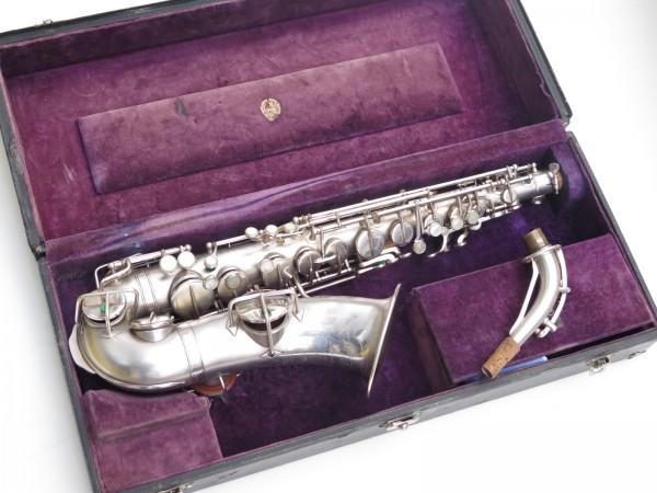 Saxophone alto Martin Master Typewriter argenté sablé (12)
