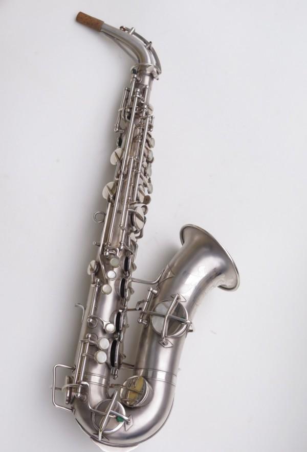 Saxophone alto Martin Master Typewriter argenté sablé (13)