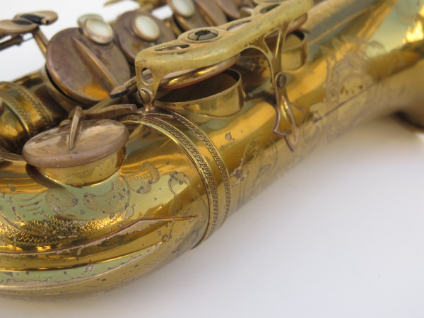 Saxophone alto Selmer Super Balanced Action verni gravé (1)