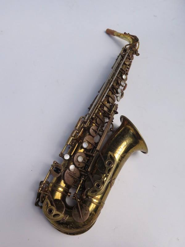 Saxophone alto Selmer Super Balanced Action verni gravé (10)