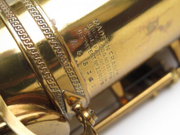 Saxophone ténor Selmer Mark 6 verni gravé double S (15)