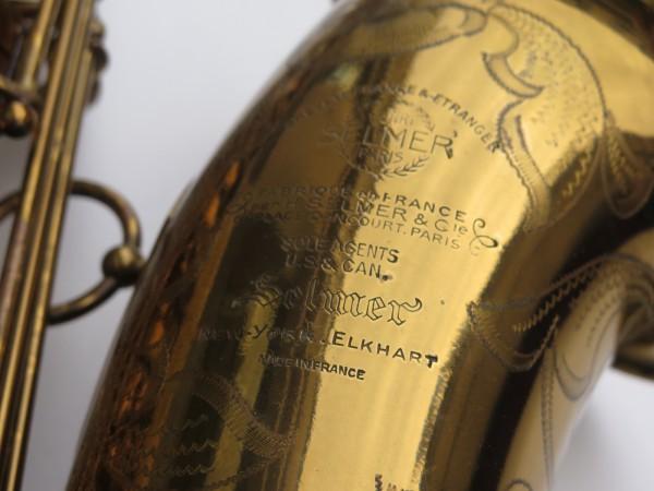 Saxophone ténor Selmer Mark 6 verni gravé double S (7)