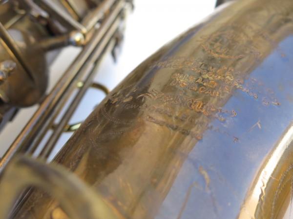 Saxophone ténor Selmer Super Baanced Action verni gravé (22)
