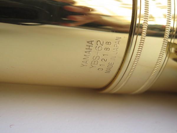 Saxophone baryton Yamaha YBS 62 verni gravé (10)