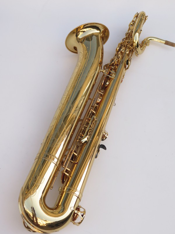 Saxophone baryton Yamaha YBS 62 verni gravé (13)
