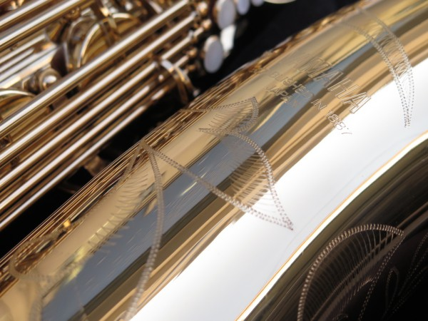 Saxophone baryton Yamaha YBS 62 verni gravé (9)
