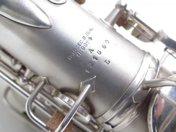 Saxophone alto Conn New Wonder argenté sablé (7)