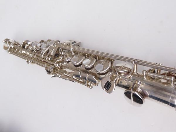 Saxello saxophone soprano Rampone R1 Jazz argenté gravé (10)