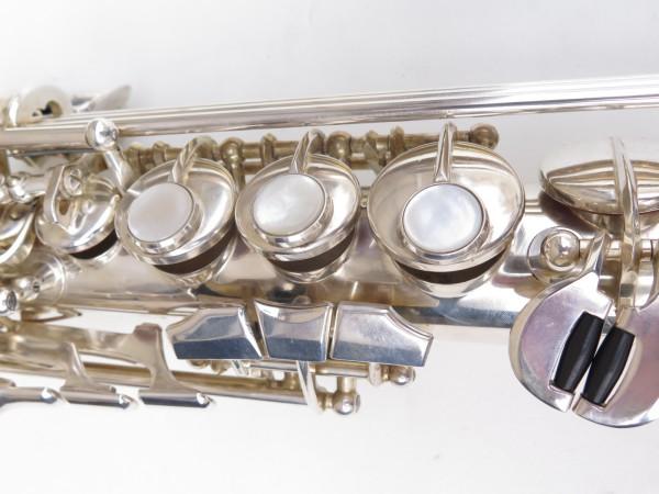 Saxello saxophone soprano Rampone R1 Jazz argenté gravé (11)