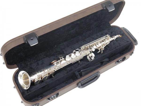Saxello saxophone soprano Rampone R1 Jazz argenté gravé (12)