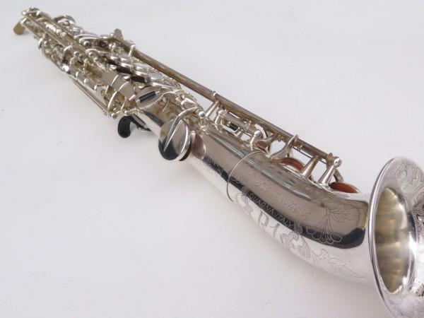 Saxello saxophone soprano Rampone R1 Jazz argenté gravé (2)