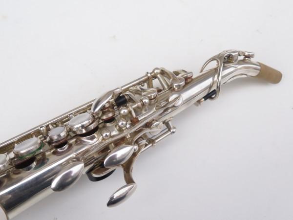 Saxello saxophone soprano Rampone R1 Jazz argenté gravé (3)