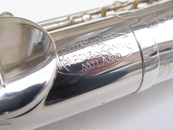 Saxello saxophone soprano Rampone R1 Jazz argenté gravé (6)