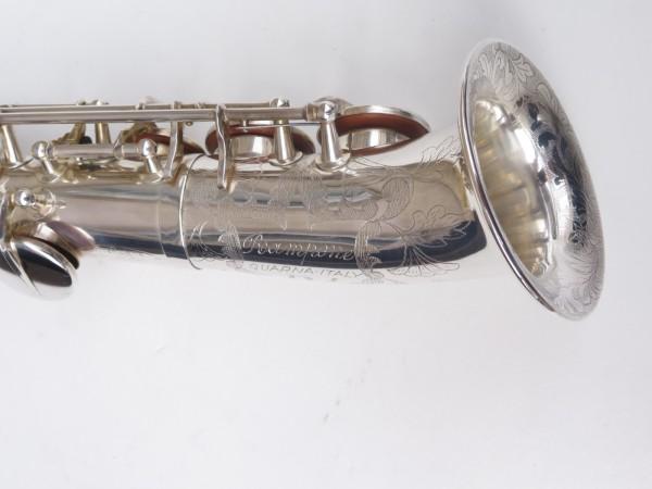 Saxello saxophone soprano Rampone R1 Jazz argenté gravé (9)