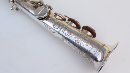Saxophone soprano Selmer Mark 6 argenté gravé (1)