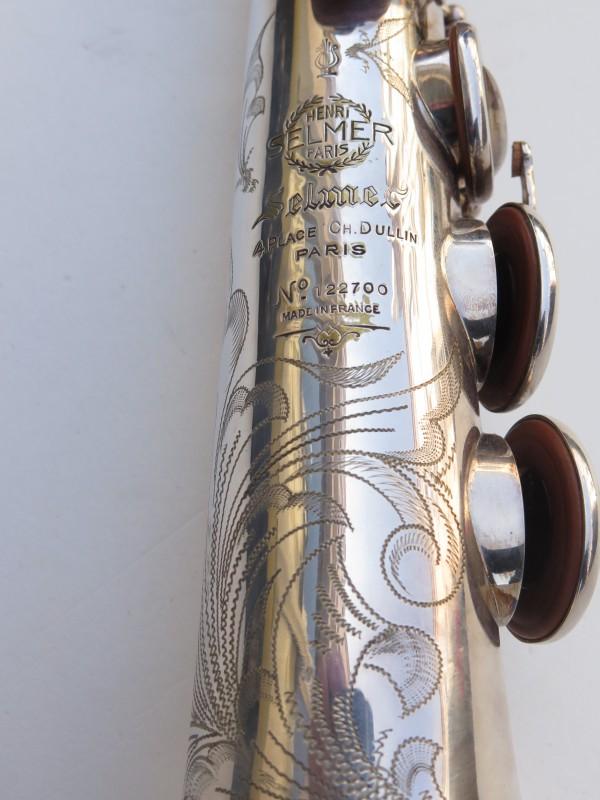 Saxophone soprano Selmer Mark 6 argenté gravé (10)