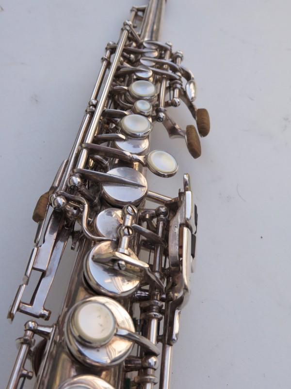 Saxophone soprano Selmer Mark 6 argenté gravé (11)