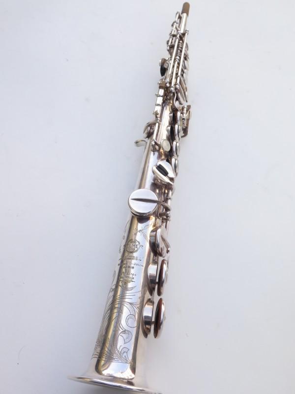 Saxophone soprano Selmer Mark 6 argenté gravé (13)