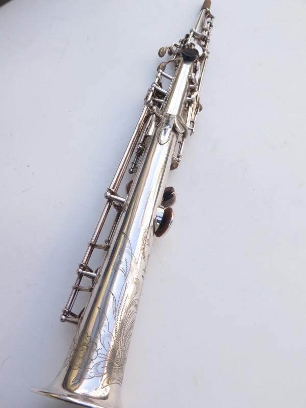 Saxophone soprano Selmer Mark 6 argenté gravé (14)
