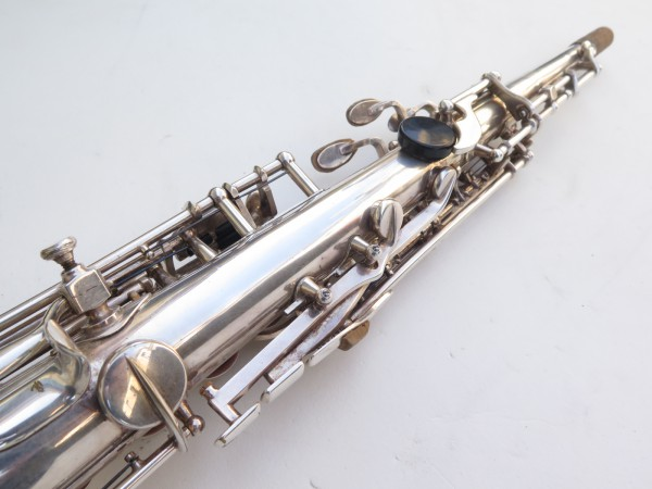 Saxophone soprano Selmer Mark 6 argenté gravé (15)
