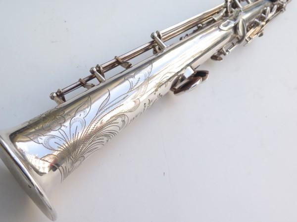 Saxophone soprano Selmer Mark 6 argenté gravé (16)