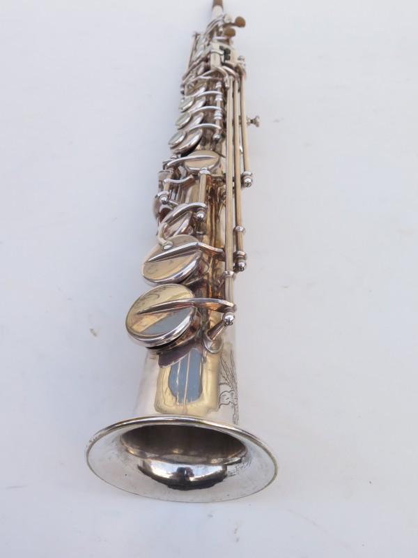 Saxophone soprano Selmer Mark 6 argenté gravé (6)