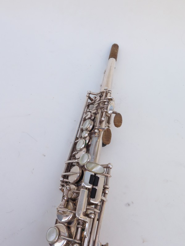 Saxophone soprano Selmer Mark 6 argenté gravé (7)